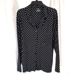 New Cabernet Polka Dot Sleep Shirt, Size 2X